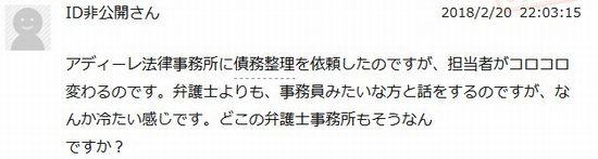 アディーレ法律事務所口コミ評判2